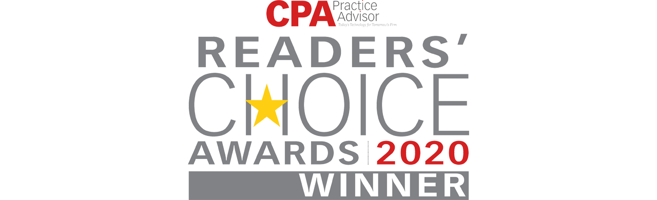Logo for CPA Practice Advisor Readers' Choice Awards 2020 Winner
