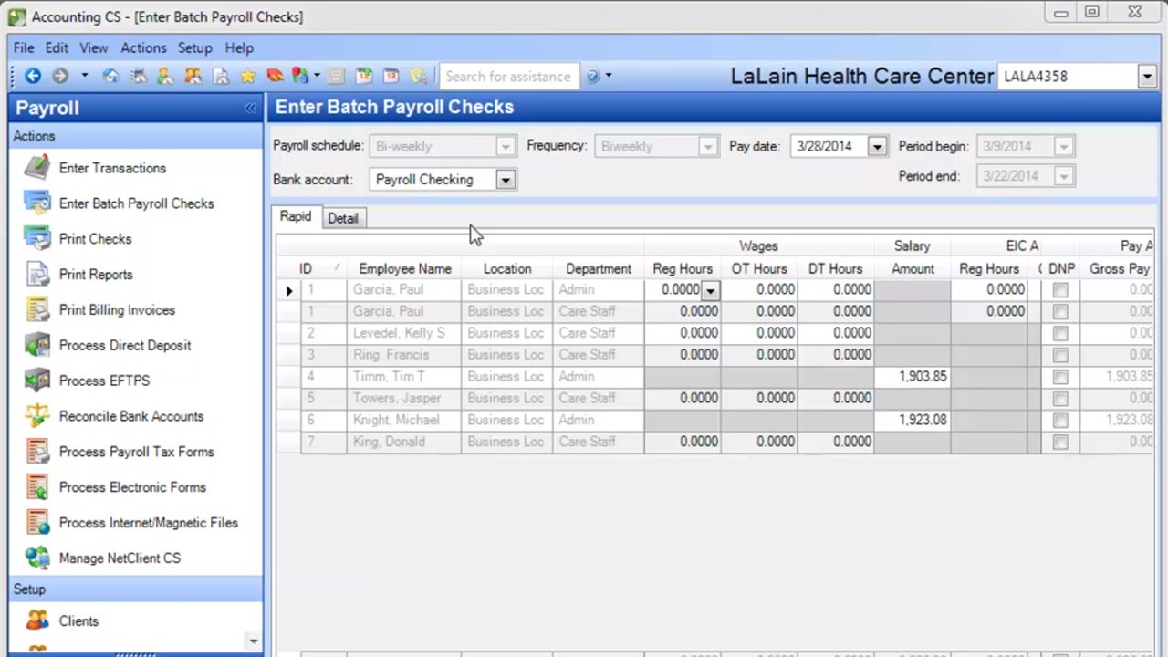 Accounting CS Payroll - Complete Demo