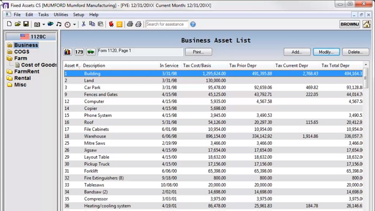 Fixed Asset Amp Depreciation Accounting Software Fixed