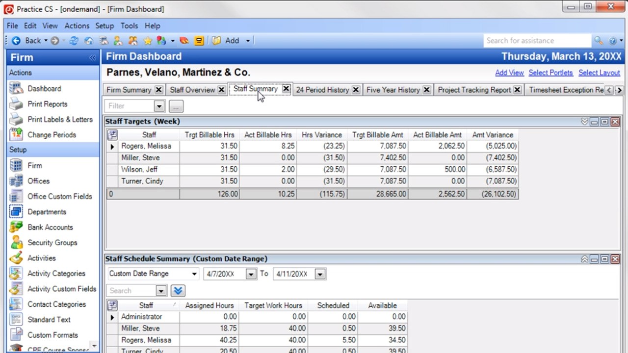 Practice CS: Complete Firm Management - Complete Demo