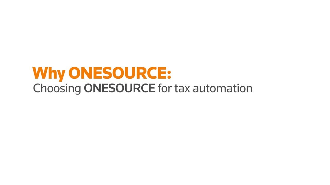 Why corporate tax departments choose ONESOURCE
