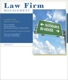 Sample Law Firm Management Newsletter