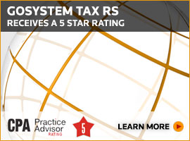 GoSystem Tax RS receives a 5 star rating