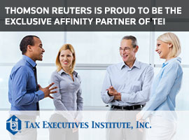 Thomson Reuters is proud to be the exclusive affinity partner of TEI