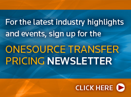 ONESOURCE Transfer Pricing Newsletter