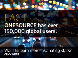 FACT: ONESOURCE has over 150,000 global users. Want to learn more? Click here.