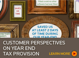 Customer perspectives on year end tax provision webcast - register now