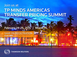 Join us at TP Minds Americas Transfer Pricing Summit, February 24 – 25, 2015, Miami, FL