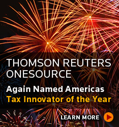 Thomson Reuters ONESOURCE — Again Named America's Tax Innovator of the Year