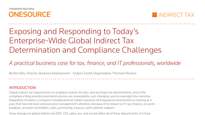 ONESOURCE Indirect Tax Business Case Whitepaper