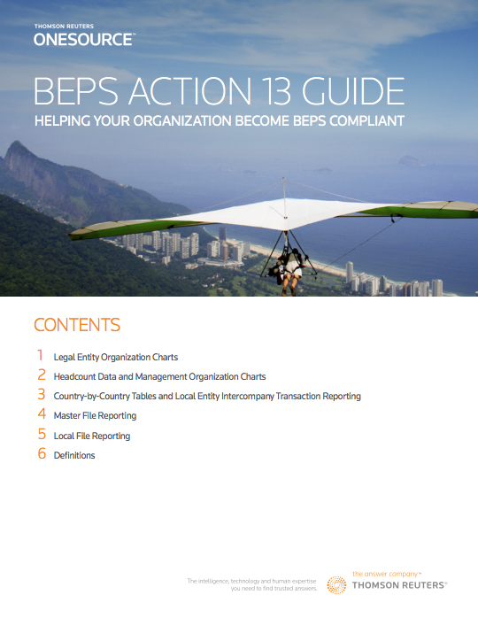 BEPS Action Guide Cover
