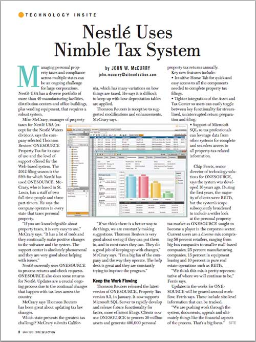 Nestle Uses Nimble Tax System