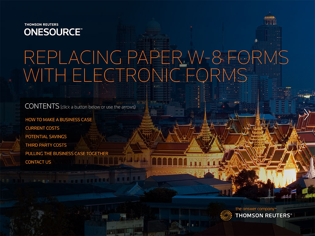 Replacing Paper W-8 Forms With Electronic Forms cover