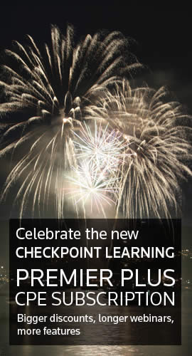 Celebrate the new Checkpoint Learning Premier Plus CPE Subscription
