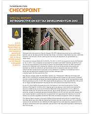 Retrospective on Key Tax Developments in 2013 cover