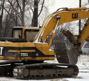 A Caterpillar excavator machine