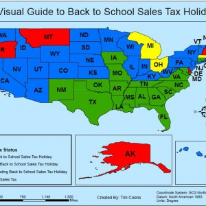 A Visual Guide to Back To School Sales Tax Holidays