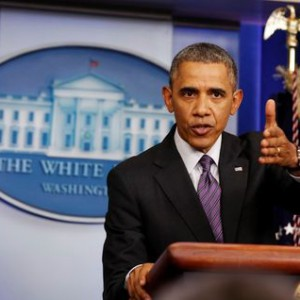 U.S. President Obama speaks to the media at the White House in Washington