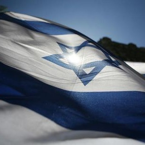"The Israeli flag is seen during the ""Salute to Israel Day"" Parade in New York"