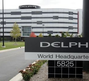 The U.S.'s largest auto parts supplier Delphi Corp.'s headquarters is seen in Troy, Michigan October..