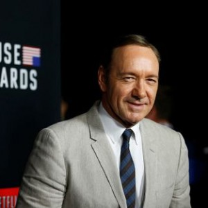"Cast member Spacey poses at the premiere for the second season of the television series ""House of Cards"" at the Directors Guild of America in Los Angeles"