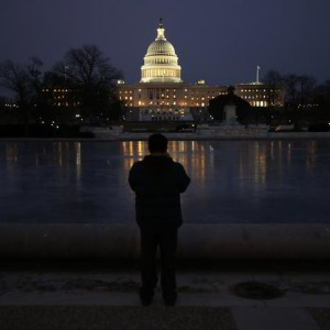 The U.S. Capitol building is seen before U.S. President Barack Obama delivers his State of the Union address in front of the U.S. Congress, on Capitol Hill in Washington