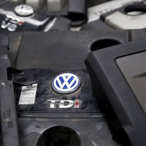 Covers for TDI diesel Volkswagen engines are seen in this illustration in second-hand car parts in Jelah, Bosnia and Herzegovina, September 26, 2015.  REUTERS/Dado Ruvic