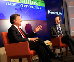 Reuters Newsmaker Interview: Colombia President Santos