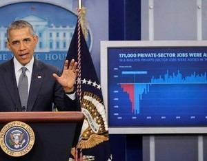 U.S. President Barack Obama delivers a statement on the economy at the press briefing room at the White House in Washington, U.S. May 6, 2016.  REUTERS/Carlos Barria
