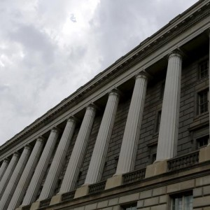 Clouds gather over the U.S. Internal Revenue Service (IRS) building in Washington May 27, 2015. Tax return information for about 100,000 U.S. taxpayers was illegally accessed by cyber criminals over the past four months, U.S. IRS Commissioner John Koskinen said on Tuesday, the latest in a series of data thefts that have alarmed American consumers. REUTERS/Jonathan Ernst