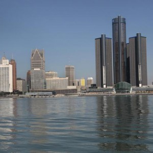 The city of Detroit's, Michigan, skyline is seen along the Detroit river from Windsor, Ontario September 28, 2013. Two professional basketball team owners on April 27, 2016 announced a $1 billion investment plan to attract a Major League Soccer club to downtown Detroit in a move they said would help revitalize the city.    REUTERS/Rebecca Cook/File Photo
