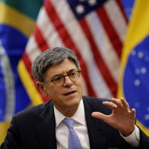 U.S. Treasury Secretary Jack Lew speaks during a news conference in Brasilia, Brazil September 27, 2016. REUTERS/Ueslei Marcelino
