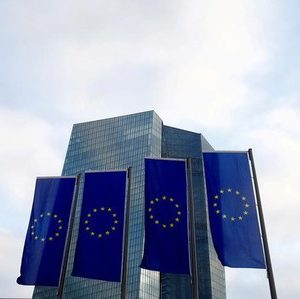 European Union (EU) flags fly in front of the European Central Bank (ECB) headquarters in Frankfurt, Germany, December 3, 2015. To match Insight GERMANY-BANKS/ REUTERS/Ralph Orlowski/File Photo