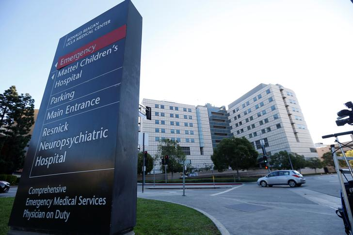 Exterior of view of the Ronald Reagan UCLA Medical Center in Los Angeles where singer Kanye West has reportedly been hospitalized, California U.S., November 22, 2016.   REUTERS/Mario Anzuoni