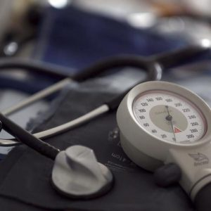 A photo illustration shows a stethoscope and  blood-pressure machine of a French general practitioner displayed in a doctor's office in Bordeaux January 7, 2015. French physicians protest against a new health reform bill that would introduce a third party payment system. Picture taken January 7, 2015.   REUTERS/Regis Duvignau (FRANCE - Tags: HEALTH POLITICS)