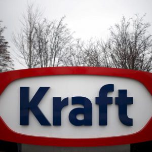 The Kraft logo is pictured outside its headquarters in Northfield, Illinois, March 25, 2015.  REUTERS/Jim Young/File Photo          GLOBAL BUSINESS WEEK AHEAD PACKAGE - SEARCH 'BUSINESS WEEK AHEAD MAY 2'  FOR ALL IMAGES