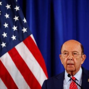 Commerce Secretary Wilbur Ross holds a news conference to make an announcement, after a background conference call with Commerce, Justice Department and Treasury Department officials at the Department of Commerce in Washington, U.S., March 7, 2017. REUTERS/Eric Thayer