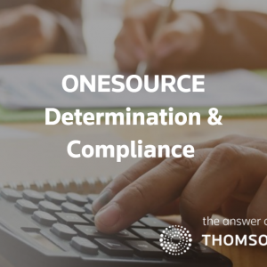 Thomson Reuters Tax & Accounting ONESOURCE Determination & Compliance